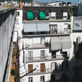 Fachada reformada en San Sebastián, vista general